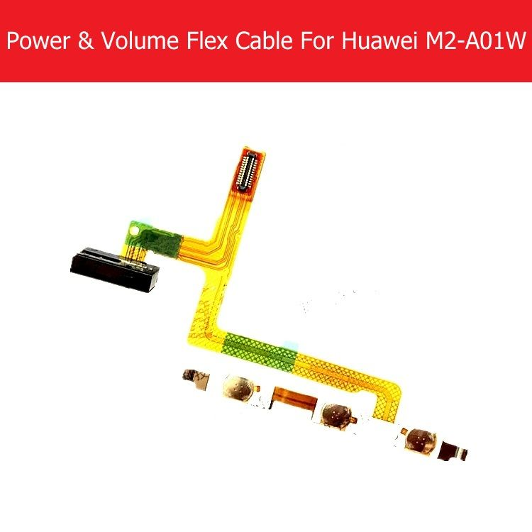 Power & Volume Flex Cable For Huawei MediaPad M2 10 M2-A01W M2-A01L M2-A04L Power & Volume Side Key Flex Cable Replacement parts