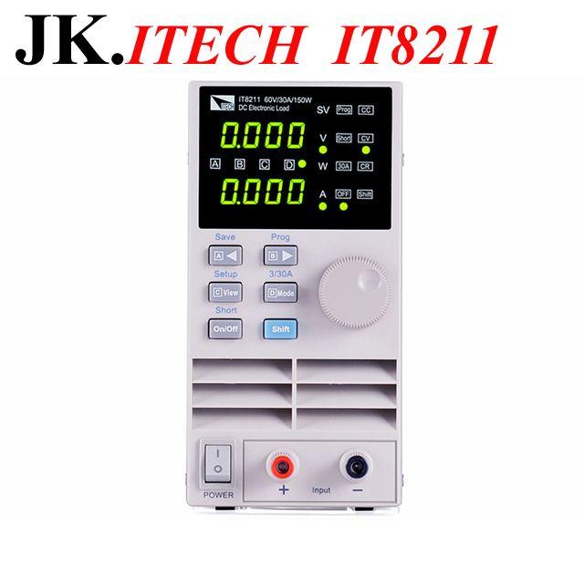 IT017 Professional Digital Control DC Electronic Loads ITECH IT8211 Single Channel Electronic Loads 60V 30A 150W Instrumentation