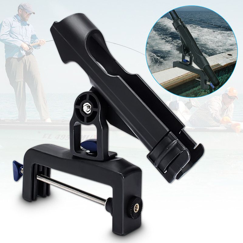 Bobing 39mm Durchmesser Edelstahl Verstellbaren Drehbare Angelrute Zaun Halter Halterung Für Boot Yacht Kajak Tackle-Tool