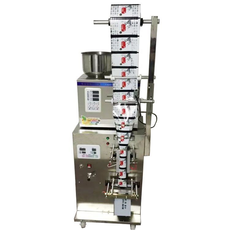 New 2-200g full automatic tea bag weighing filling packaging machine with back sealer