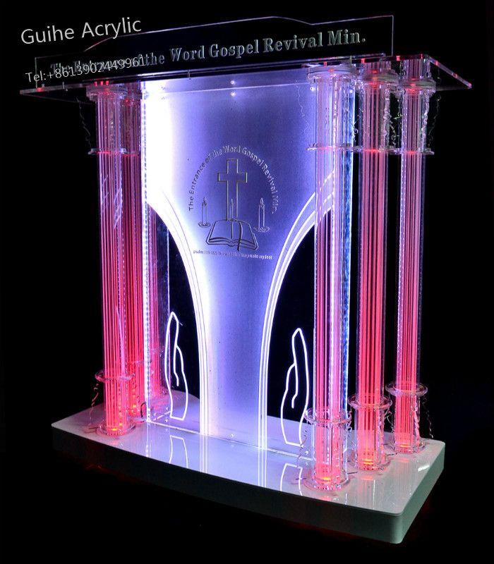 Leuchte Displays Acryl Podium Mit Schräg Große Lesen Oberfläche Rezeption Büro Möbel