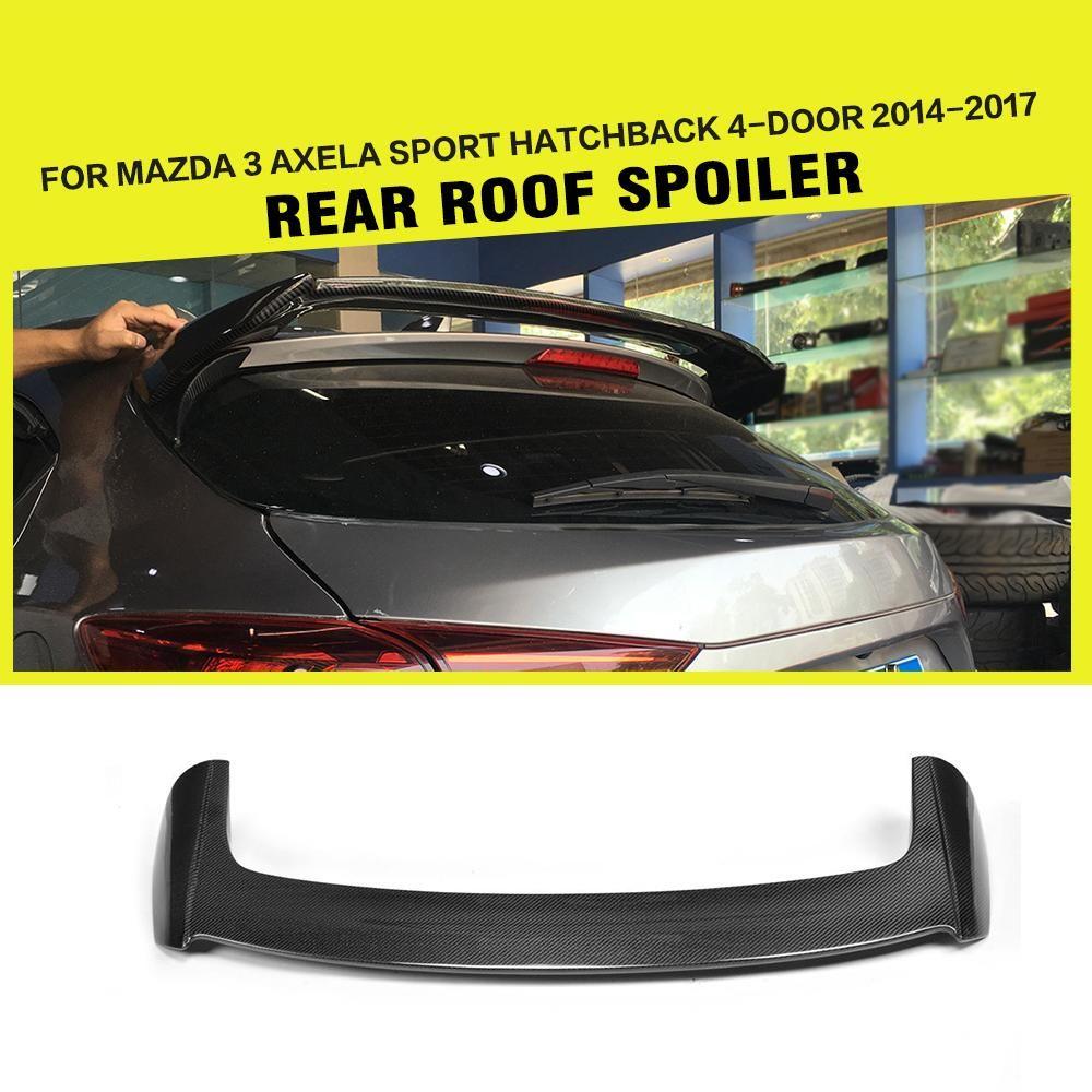 Carbon Fiber Heckspoiler Fenster Flügel für Mazda 3 Axela Sport Hatchback 4-Tür 2014-2017 FRP