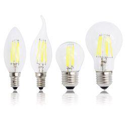 E27 E14 Bougie Lumière Antique Rétro Edison En Verre 220 V LED Filament Dimmable Ampoule Remplacer 20 W 30 W 50 W À Incandescence Lampe Lustre