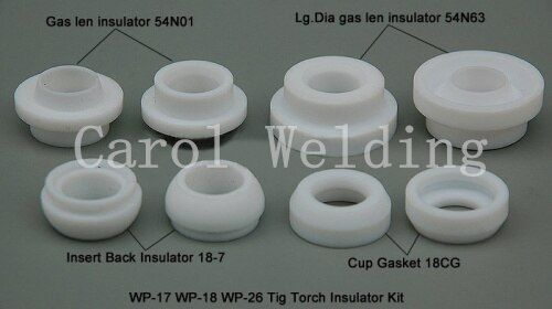 8 PCS TIG KIT Isolant Tasse Joint 54N01 54N63 18-7 18CG FIT TIG Torche De Soudage SR PTA DB WP-17 18 26 série, M327