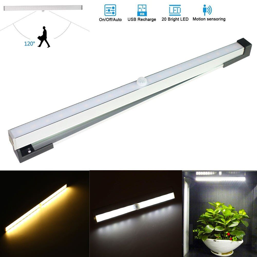 Portable 18 Leds IR Body Sensor Lights USB Camping Lamp Rechargeable Night Light For Cabinet Bedroom Wardrob Corridor CLH