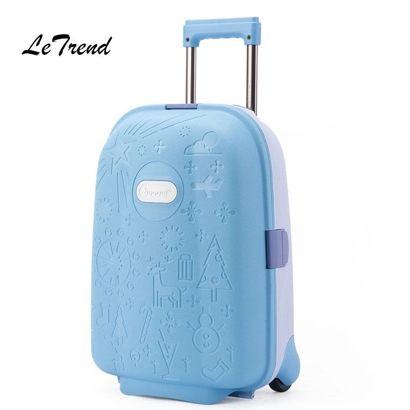 LeTrend Cute Cartoon Children Rolling Luggage Kid high-grade Suitcase Wheels Trolley Case Cabin Trunk School Bag Carry On Bags