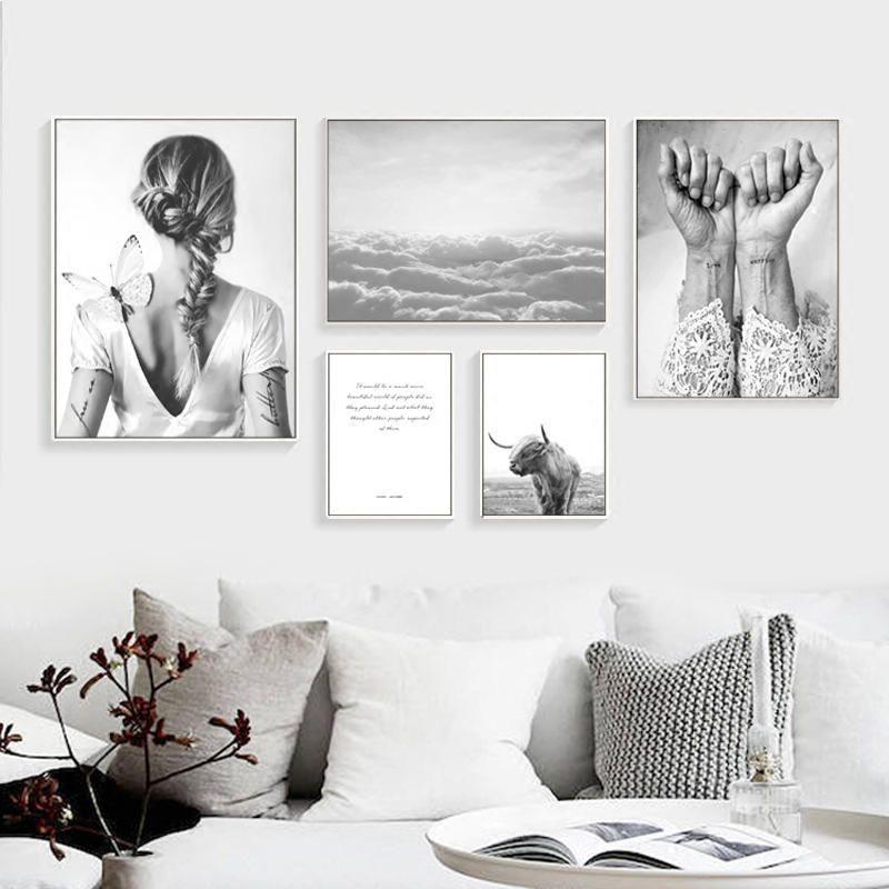 Nordic плакат абстрактная стена Книги по искусству холст картины Nordic Куадрос Decoracion Плакаты и отпечатки холст фотографии без Плакат оформлена