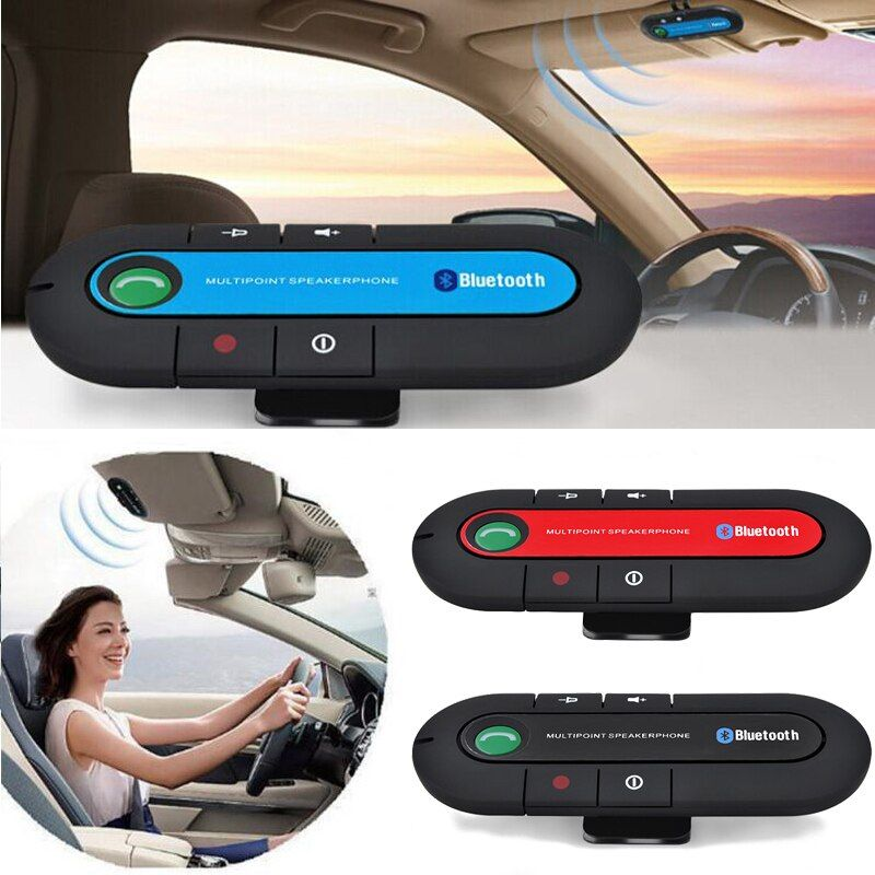 2017 Sun Visor Bluetooth 4.1 Car Kit Handsfree Speakerphone Hands Free V4.1 EDR DSP Support Siri English Spanish French Italian