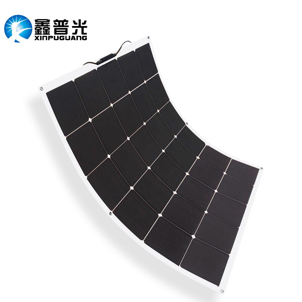 NEW 150w flexible solar panel high effciency cell photovoltaic module 12v battery system kit for RV yacht car charger