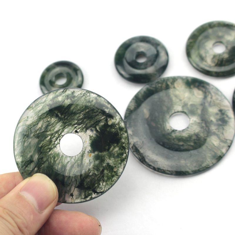 45mm beignet forme mousse agates perles perles de pierre naturelle bricolage perles en vrac pour la fabrication de bijoux 1 pièces livraison gratuite en gros!