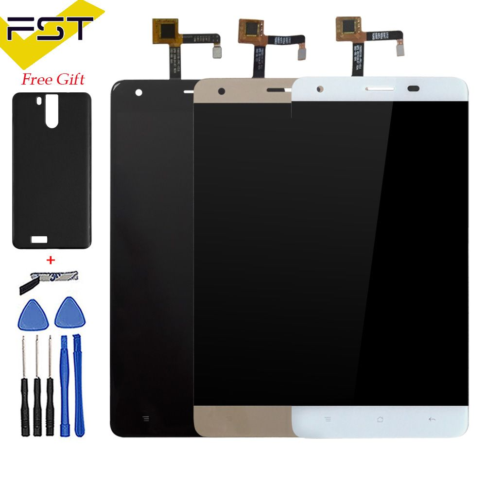 Black/White/Gold 100% Test 1PCS For Oukitel K6000 Pro LCD Display and Touch Screen Digitizer Assembly Free Shipment+Tools