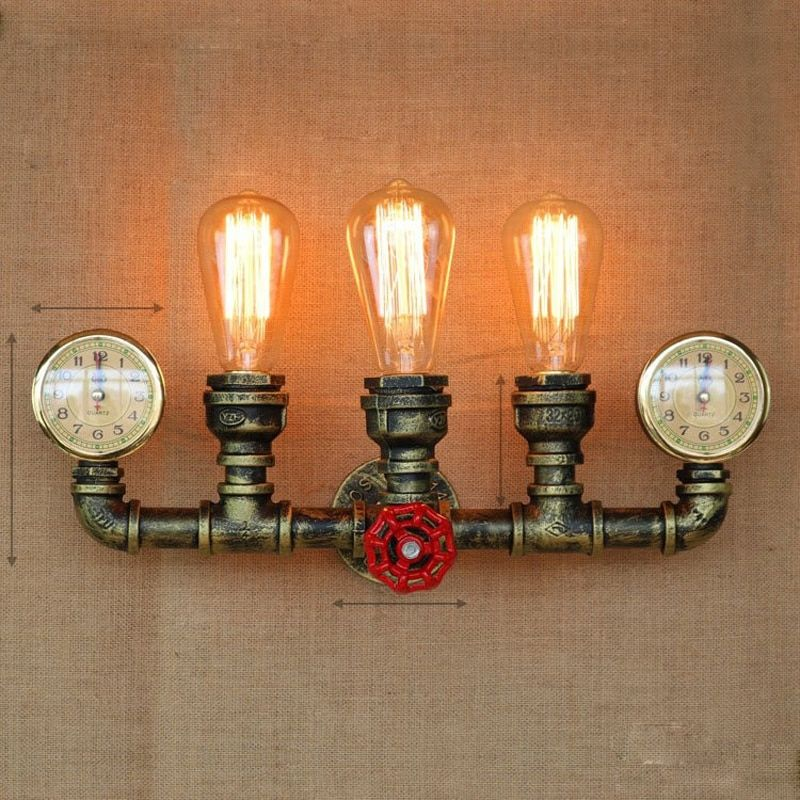 Creative Water Pipe Vintage Wall Lamp Light LED Edison Retro Loft Style Industrial Wall Sconce Fixtures Arandela Lampara Pared