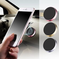 1PC Universal Smartphone Car GPS Bracket Magnetic Stand Dashboard Mount Metal Phone Holder Car Styling Tools