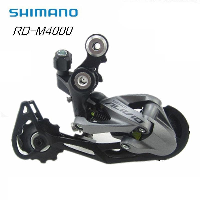 Shimano Alivio RD-M4000 27 Speed Mountain Bike Shadow 9-speed Rear Derailleur update from M430 Lucky CrazWind Black Hot