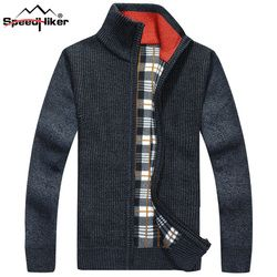 6 Colors Sweater Men Pullover Clothes 2018 Thicken Casual Cardigan Men's Clothing Velvet Sweaters Man Plus Size 3XL SL-607