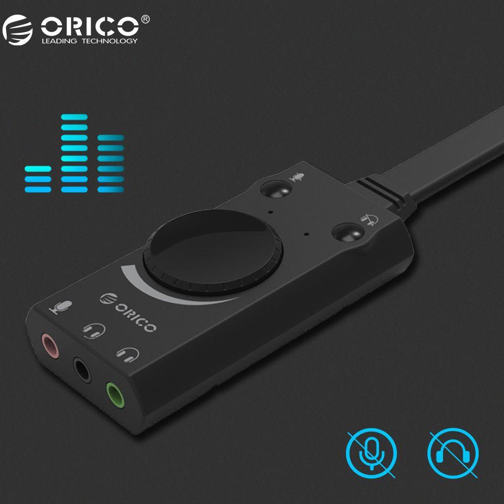 ORICO Tragbare Mikrofon Kopfhörer Zwei-in-one mit Ausgang Lautstärke Einstellbar Für Windows/Mac/Linux