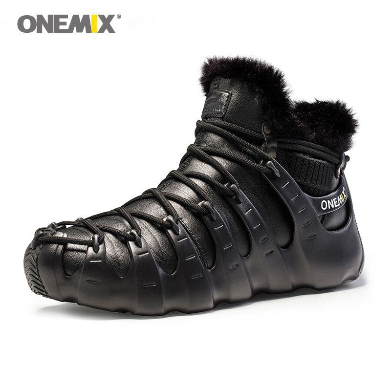 Onemix winter boots for men shoes Trekking shoes Anti Slip Shoes for women outdoor trekking shoe sneakers winter warm keeping