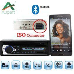 Autoradio De Voiture Radio 12 V Bluetooth V2.0 JSD520 Voiture Stéréo Au tableau de bord 1 Din FM Entrée Aux Récepteur SD USB MP3 MMC WMA ISO connecteur