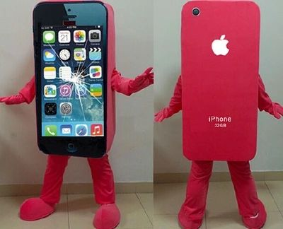 Hot sale iPhone 5C/Apple Cell Phone Mascot Costume Adult Size