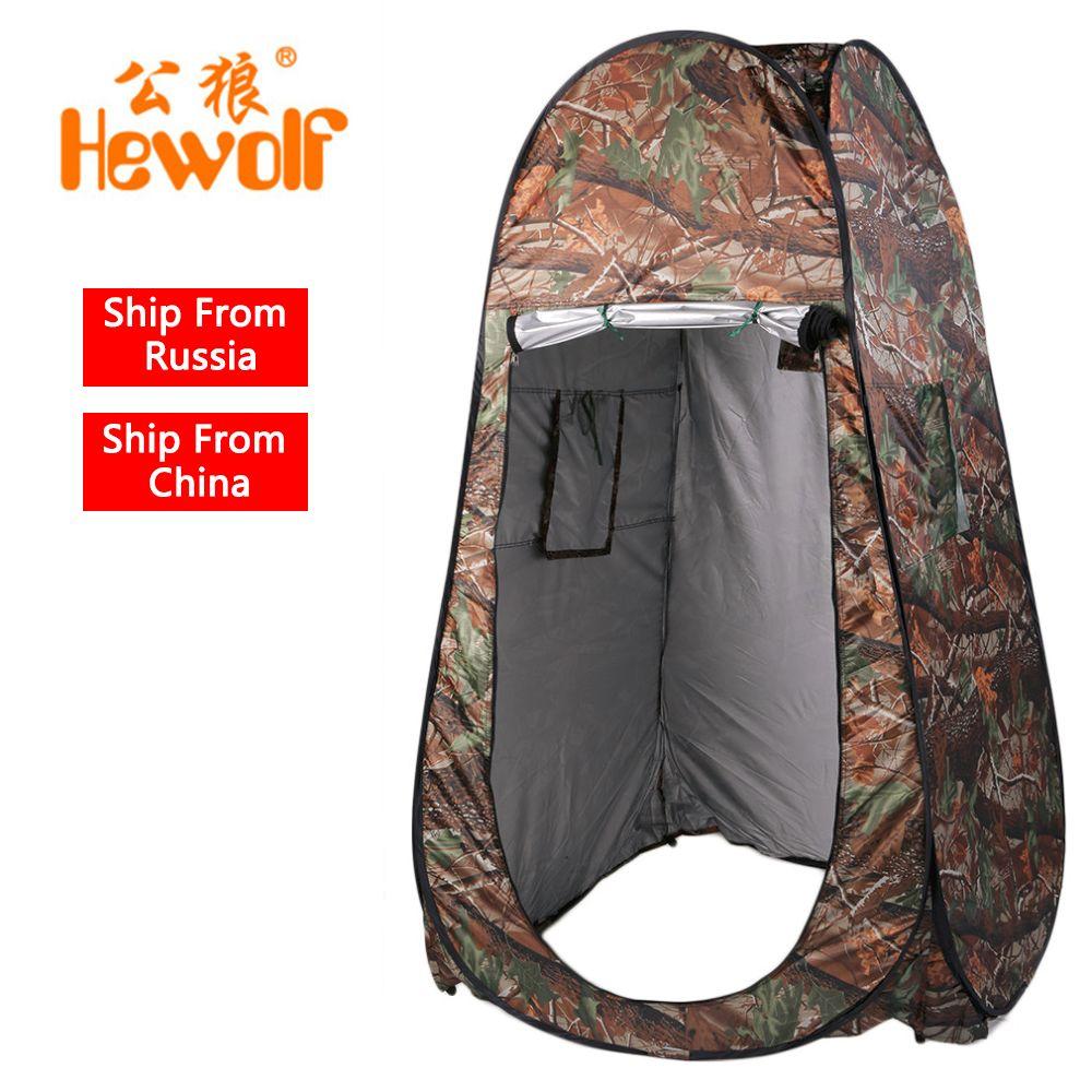 Hewolf Extérieure Mini Douche Tente de Plage De Pêche De Douche Camping Portable Vestiaire Toilettes Tente Avec Sac de Transport