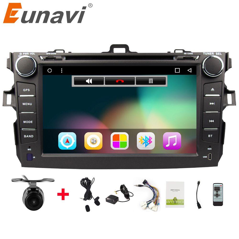 Eunavi 2 Din Android 7.1 car dvd player For Toyota corolla 2007 2008 2009 2010 2011 in dash car radio gps video wifi bluetooth