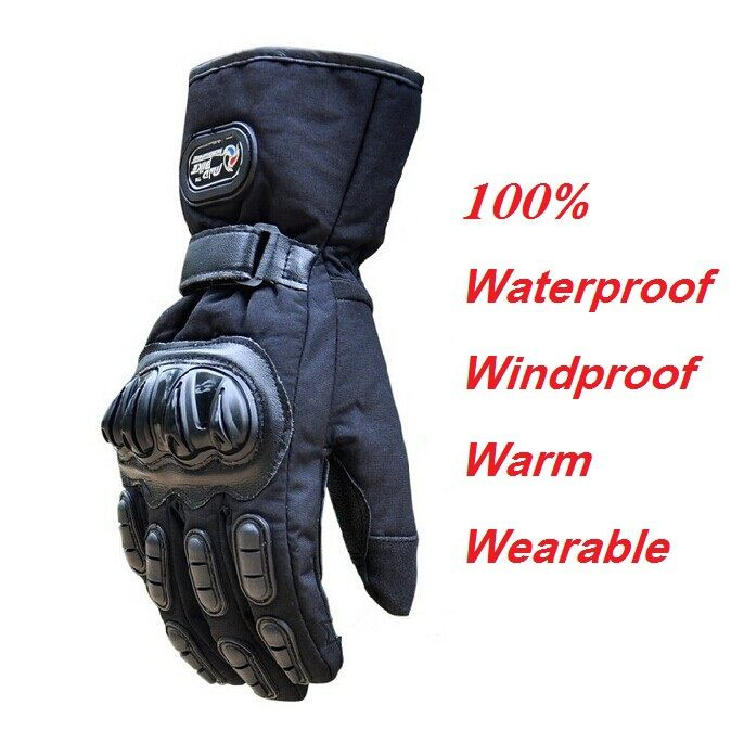 Winter Motorcycle Gloves Waterproof Warm Motocross Racing Motos Motorbike Cycling Glove luvas Guantes M L XL Black Blue Red
