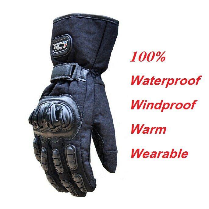 Winter Motorcycle Gloves Waterproof Warm Motocross Racing Motos Motorbike Cycling Glove luvas Guantes M L XL Black Blue Red