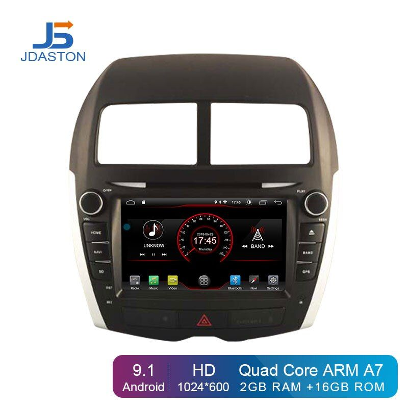 JDASTON Android 9.1 Auto DVD Player Für Mitsubishi ASX 2011-2015 Peugeot 4008 Citroen C4 Multimedia GPS 2 Din Auto radio Stereo