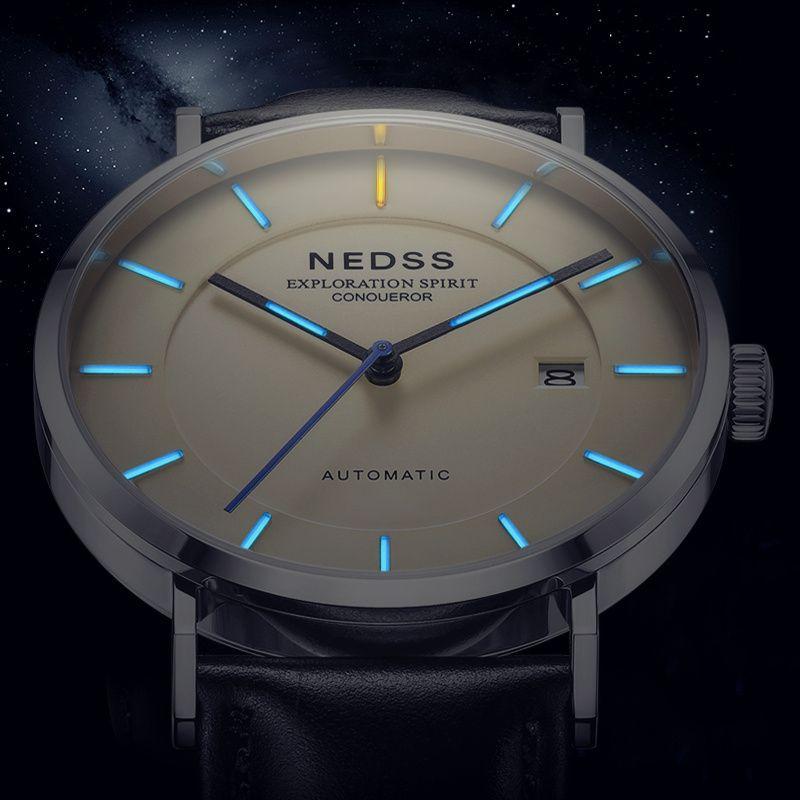 2018 NDESS Automatische uhr Herren Uhren miyota 9015 mechanische Uhren Männer Stahl Military Armee Uhren Männlichen Business armbanduhr