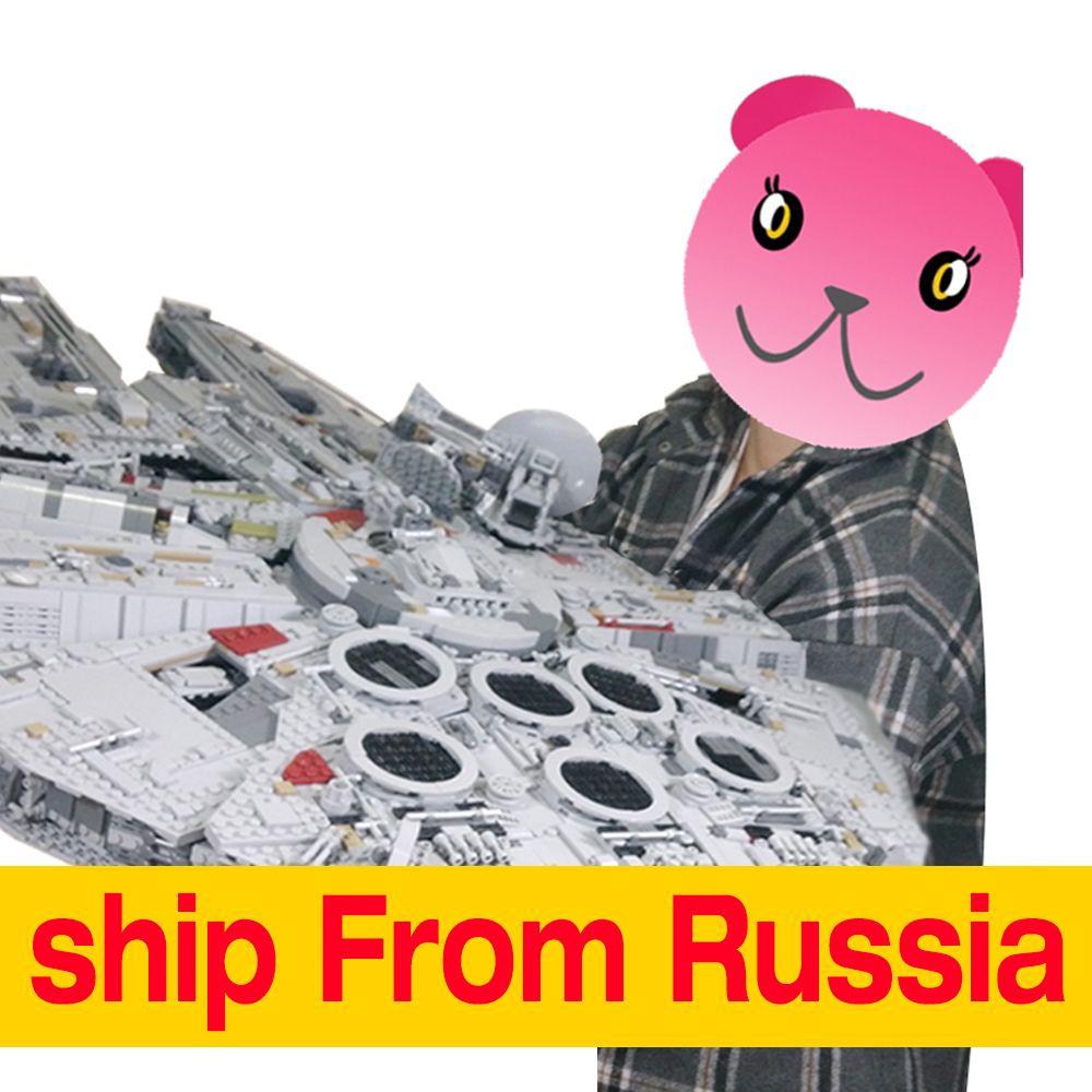 Lepin Star Wars Millennium Falcon Ultimative Collector Series 05132 Versendet Von Russland für Freies in tage