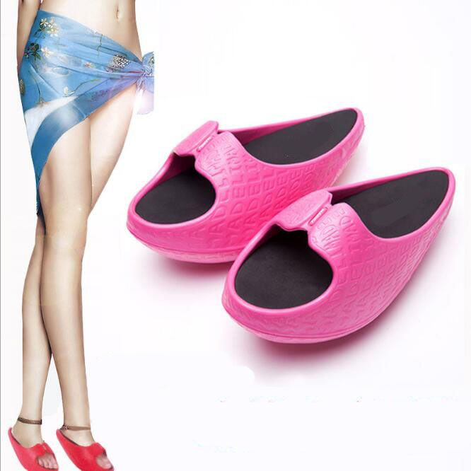 Summe Slimming Slippers Fitness Shoes Women Personality Slimming Fat Lazy Post-natal Stretching Tendons Type Women Sandals SSX01