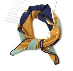 Bufanda de seda mujeres Primavera Verano retro bufanda multicolor bufanda principal la raya Diseño impresión pañuelo mujer cuello chal envuelve Echarpe
