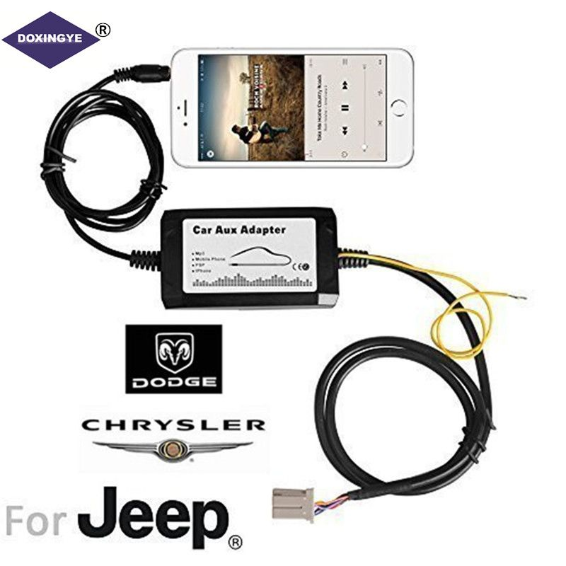 DOXINGYE iPod/iPhone Aux Audio Input Car mp3 Player Music Adapter MP3 Interface For Chrysler Dodge Jeep (2002-2005)