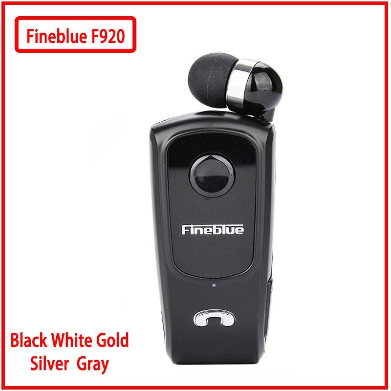 FineBlue F920 8615 Mini Auriculares sans fil pilote Bluetooth casque appels rappeler Vibration usure Clip sport en cours d'exécution écouteur
