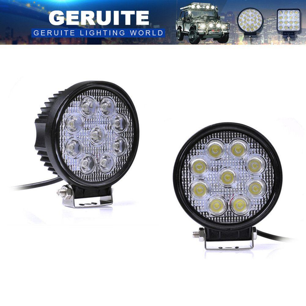 10 stücke 27 Watt FÜHRTE Arbeitslicht 30 Grad High Power LED Offroad licht Runde Off Road LED Arbeits-heller Punkt-licht Für Bootfahren jagd