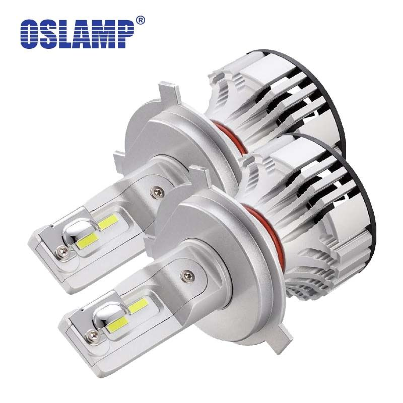 Oslamp Car LED H4 Headlight Bulbs 72W 6000LM 6500K H4/9003/HB2 Led Car Bulbs All-in-One for MERCEDES-BENZ/Solara/T100/Tacoma