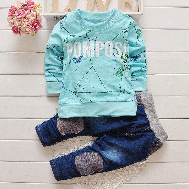 Neue ankunft baby bekleidung set kinder sport anzug kinder trainingsanzug knabenanzug lange shirt + hosen jogging sweatshirt freizeitkleidung