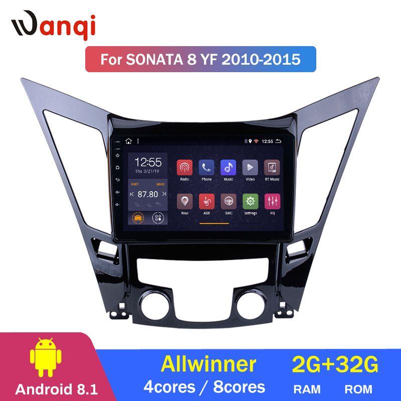 2G RAM 32G ROM 9 pouces Android 8.1 pour HYUNDAI Sonata 8 Sonata YF 2010-2015 HD voiture GPS support de Navigation swc