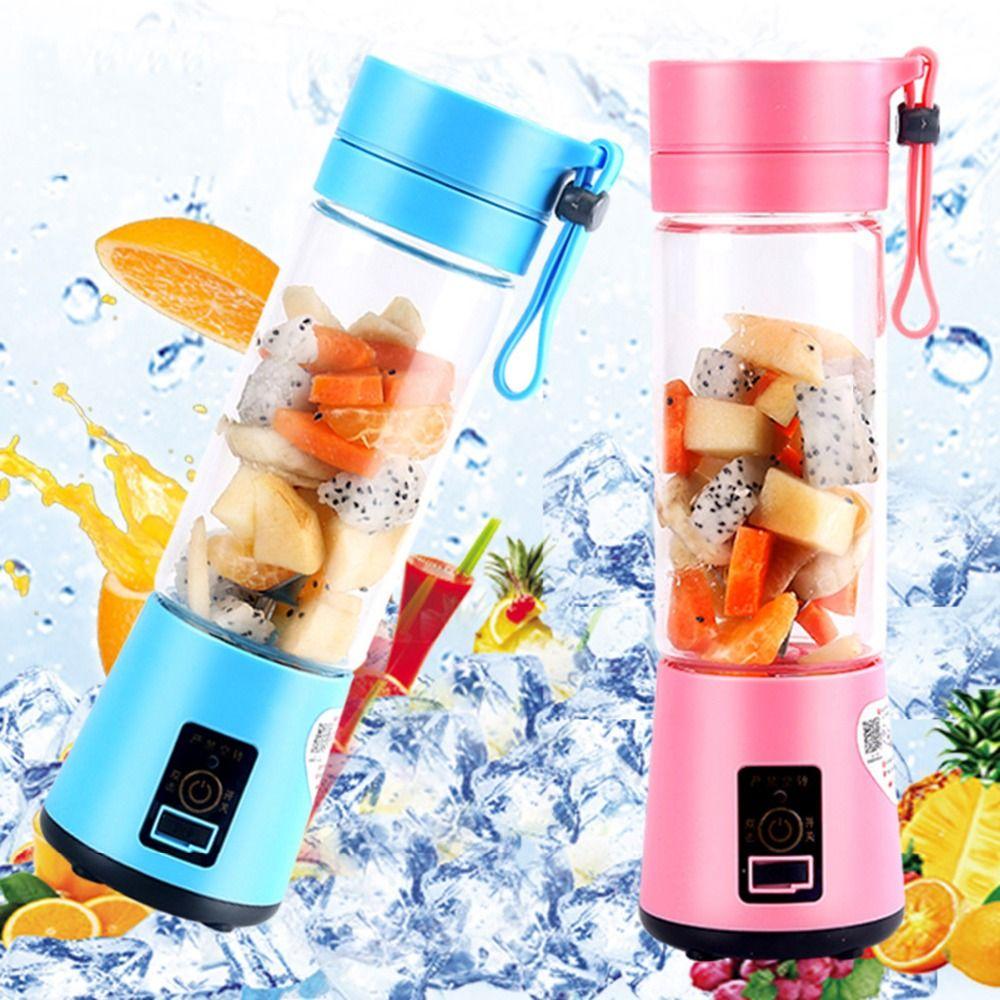380 ml USB Rechargeable mélangeur mélangeur 6 lames presse-agrumes bouteille tasse jus agrumes citron légumes fruits Smoothie grinceurs alésoirs