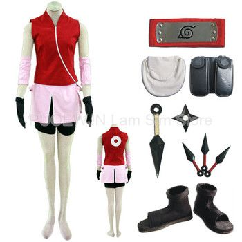 Hot Naruto Sakura Haruno Cosplay Costume Halloween Costume Full Set