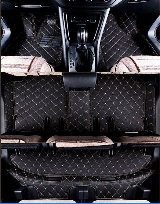 Buena calidad! Personalizadas de coche para Audi Q7 7 asientos 2014-2006 impermeable alfombras antideslizantes para q7 2011, envío libre