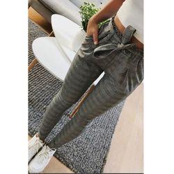 Nouveau Plaid taille haute harem pantalon Femmes d'été style cheville-longueur vintagel pantalon femme office lady blanc rayé pantalon