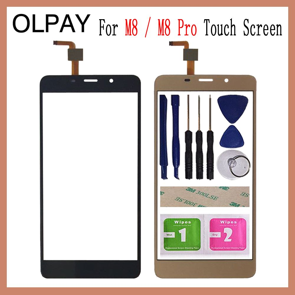 OLPAY 5.7 For Leagoo M8 Pro Touch Screen Digitizer For Leagoo M8 Touch Panel Touchscreen Sensor Front Glass Free Adhesive+Wipes