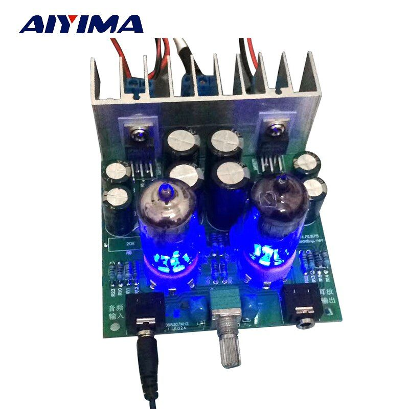 Aiyima HiFi 6J1 ламповый усилитель аудио доска LM1875T наушники усилители для DIY комплекты pre-AMP аудиофилов
