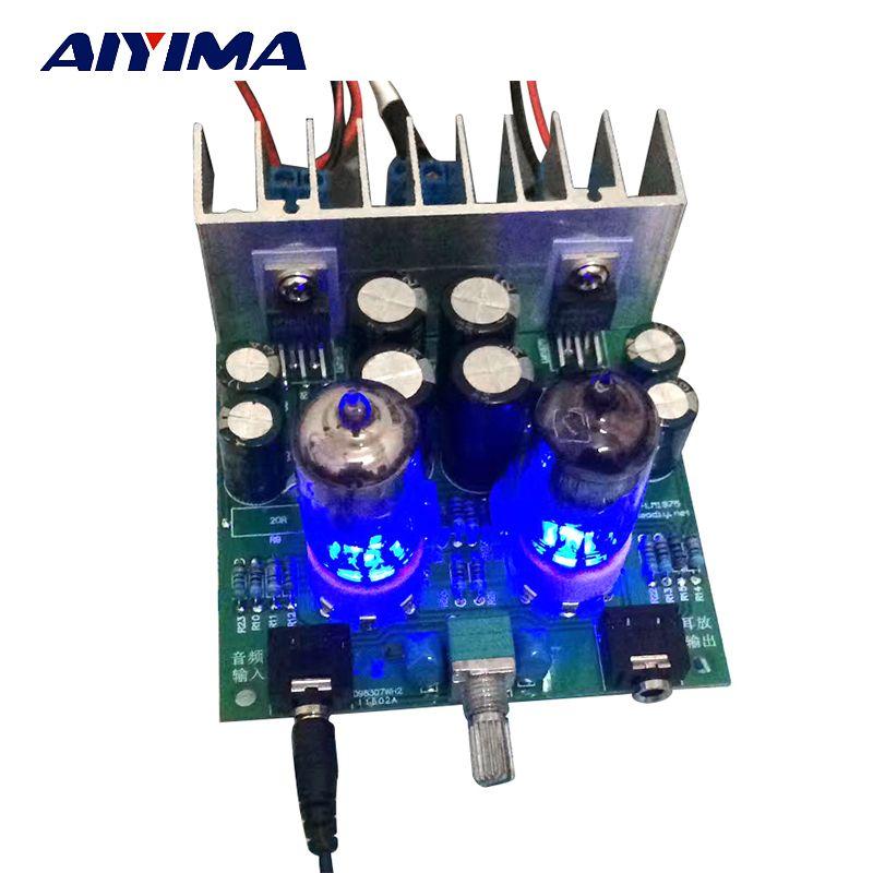 Aiyima Hifi 6j1 röhrenverstärker audio bord LM1875T Kopfhörer verstärker Für DIY kits vorverstärker audiophile
