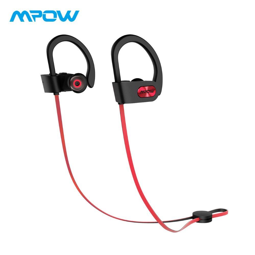 D'origine Mpow Flamme Bluetooth Casque HiFi Stéréo Sans Fil Écouteurs Étanche Sport Écouteurs Avec Micro/Portable Étui de Transport