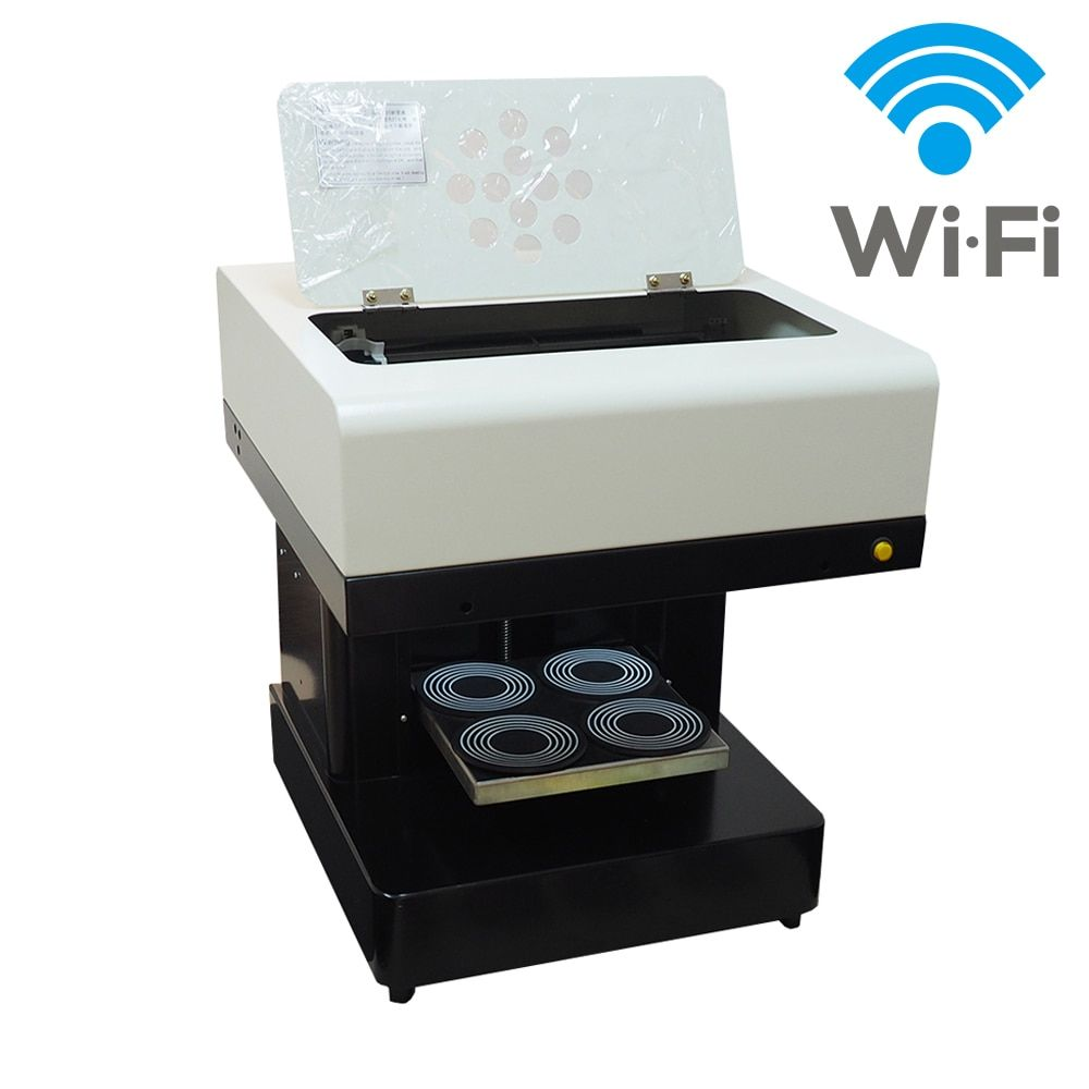 Automatic Coffee Printer 4 cups Biscuits Cake Chocolate Printer DIY Printer coffee Selfie Latte Printing machine With Wifi