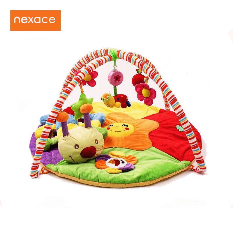 Baby Toy Gym Mat Play <font><b>Rug</b></font> Musical Carpet Children Caterpillar