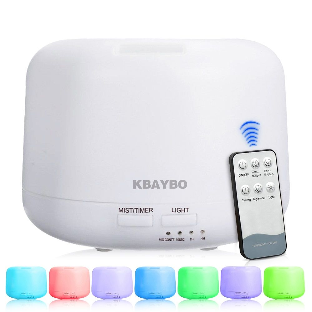 Télécommande 300 ML D'air Ultrasonique humidificateur d'arôme Avec 7 Couleur Lumières Électrique Aromathérapie huile essentielle diffuseur de senteur