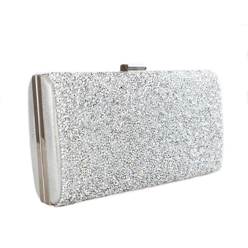 Scione femmes sac de soirée luxe noir/argent sac de fête de mariage diamant strass embrayages cristal Bling or pochette sacs à main